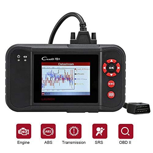 Launch CR VII+ X431 Interfaz de Diagnóstico OBDII EOBD OBD Borrado de códigos de error Motor Transmisión ABS Airbag (SRS) en pantalla TFT 3,5 pulgadas 320 x 480 tarjeta de 1GB