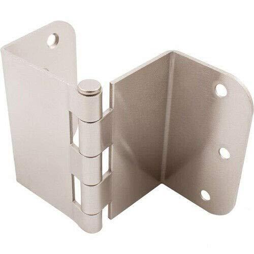 3.5 Inch Swing Clear Offset Door Hinge Satin Nickel 5 8 Inch Radius-Door Hinges-Gate Hinges-Door Hinge-Cabinet Hinge-Door Hinge jig-Door Hardware-Hinges Heavy Duty-Hinge jig-Box Hinges