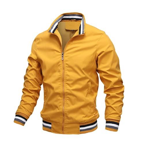 SHENSHI Jackets For Men,Windbreaker Fashion Hip Hop Autumn Vintage Cargo Bomber Jacket,Y