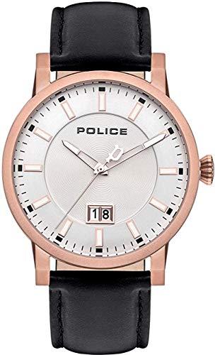 Police Reloj Analógico para Unisex Adultos de Cuarzo con Correa en Cuero PL15404JSR.04