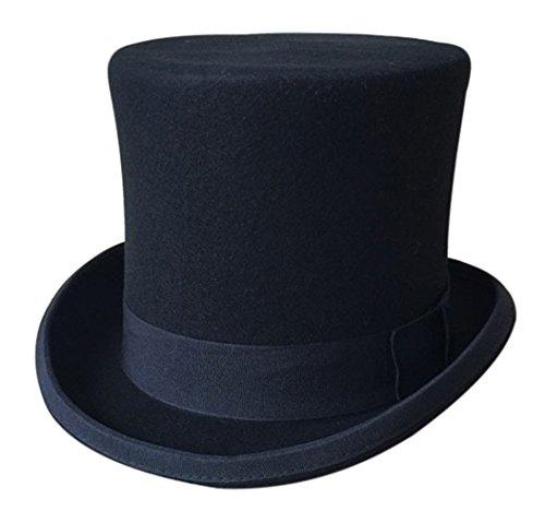 MARRYME Sombrero de Copa Fedora Hombre Fieltro de Lana