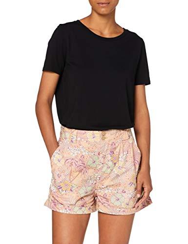 Queen Kerosin Pantalones cortos para mujer, diseño tropical hawaiano, cintura alta coral XXL