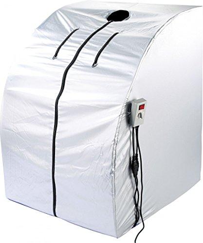 newgen medicals Infrarotsauna: Portable Infrarot-Sauna V2 mit 2 Heizern, 1600 Watt (Mini Infrarotkabine)
