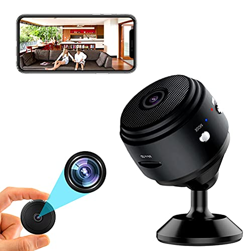 indoor camera for androids Mini Spy Camera, WiFi Hidden Cameras 2K HD Nanny Cam, with Audio and Video Live Feed, with Night Vision Motion Detection for iPhone and Android ,2021 Upgraded Version