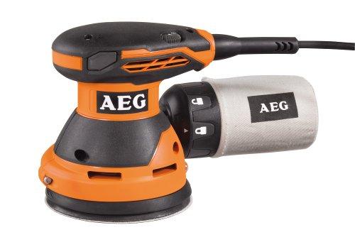 AEG Exzenterschleifer, 300W, Schleifmaschine mit Staubabsaugung, Handgriff mit Soft-Grip, Multischleifer, EX 125 ES, 300 W, 18 V