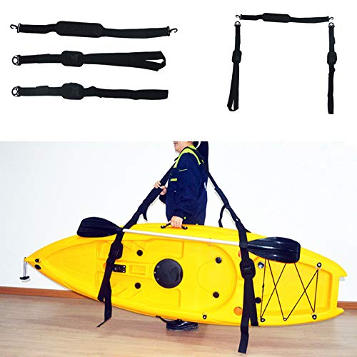 XZR Kayak Carry Strap,Portable Kayak Strap,Adjustable Nylon Carrying Belt, Shoulder Strap Belt with Paddle Loop, for Canoe, SUP, Surfboard, etc