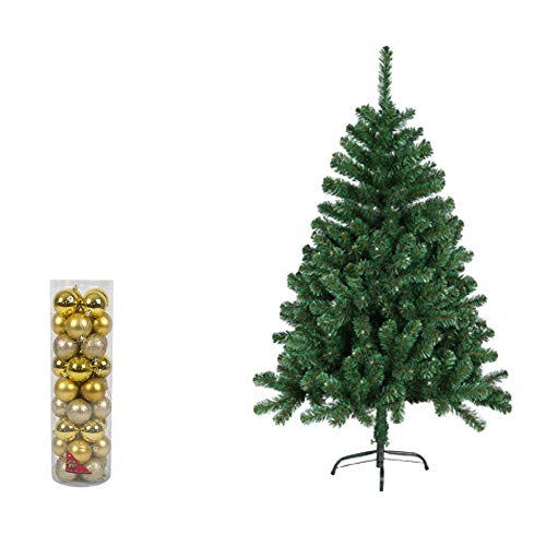Natural Logistics Árbol de Navidad PVC con 36 Bolas Decorat
