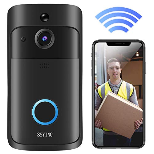 Video Doorbell Camera HD WiFi Doorbell Wireless Operated Motion Detector Audio & Speaker Night Vision for iOS&Android