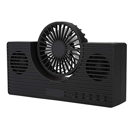 Altavoz inalámbrico portátil con Ventilador de enfriamiento, Altavoz Bluetooth 5.0 con 4H de Tiempo de Funcionamiento, Sonido de Graves estéreo HD, Tarjeta TF con Soporte para Cable USB(Negro)