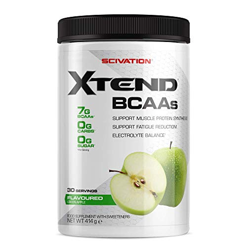XTEND Original BCAA Powder Green Apple | Branched Chain Amino Acids Supplement | 7g BCAAs + Electrolytes for Recovery & Hydration | 30 Servings
