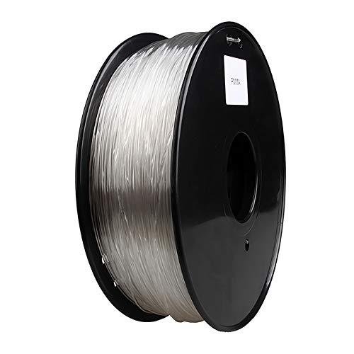 PMMA Acrylic Filament 3D Printing Filament 1.75mm 1 Kg Spool Printing Filament, Dimensional Accuracy +/- 0.02 Mm For 3D Printer (color: Transparent White)(Color:Transparent)