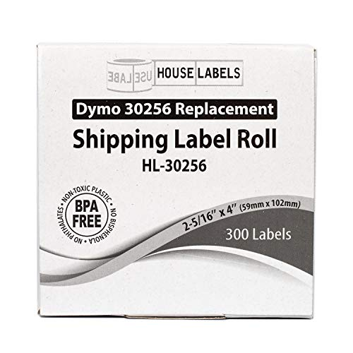 """HOUSELABELS Compatible DYMO 30256 Shipping Labels (2-5/16"""" x 4"""") Compatible with Rollo, DYMO LW Printers, 100 Rolls / 300 Labels per Roll Photo #7"""
