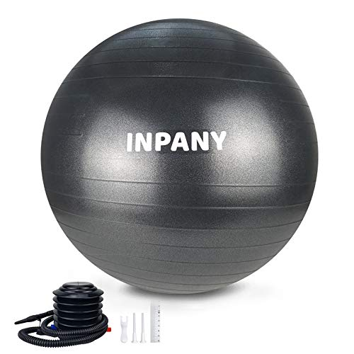 Inpany Exercise Ball - Extra Thick Yoga Ball Chair, Anti-Burst Stability Ball Supports 2200lbs,Birthing Ball with Quick Pump for Office & Home & Gym