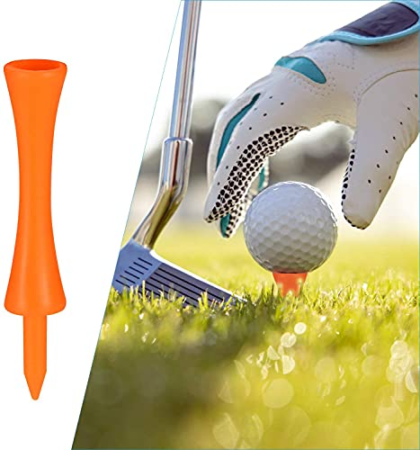 Golf Tees Plastic Step Down Unbreakable 2 3/4, 2 1/4, 2,1 3/4,1 1/2, 1 1/4 inch 50 Pack Colored Bulk, ,Golf Tees Castle Long Short Durable Portable Professional for Practice (All 2 3/4