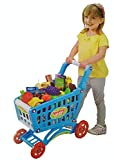 Suitable for both Boy & Girl Child - Kids Shopping Cart - This Real Style pretend play toy for kids comes with 50+ different variety of Toy Food Kids can now play with shopping. There are many accessories to play with including fruits, vegetables, et...