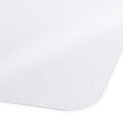 Certeo Bodenschutzmatte Neo | PVC | BxH 90 x 120 cm | Hartboden | Transparent | Stuhlunterlage Bürostuhlunterlage Bodenschutz Schutzmatte