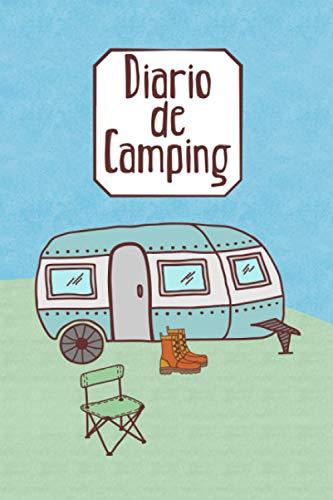 Diario de camping: Diario de viaje para las vacaciones en el camping I Lugar para 29 campings I Caravana en la pradera