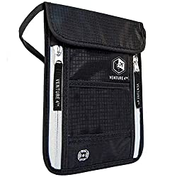 Travel Neck Pouch Neck Wallet - 11 of the best travel accessories for men #travelclans #travelaccessories #men