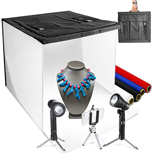 LimoStudio 16' x 16' Table Top Photo Photography Studio LED Lighting, Light Tent Kit in a Box,...