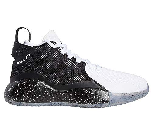 adidas Herren D Rose 773 2020 Sneaker, Ftwbla/Negbás/Ftwbla, 46 EU