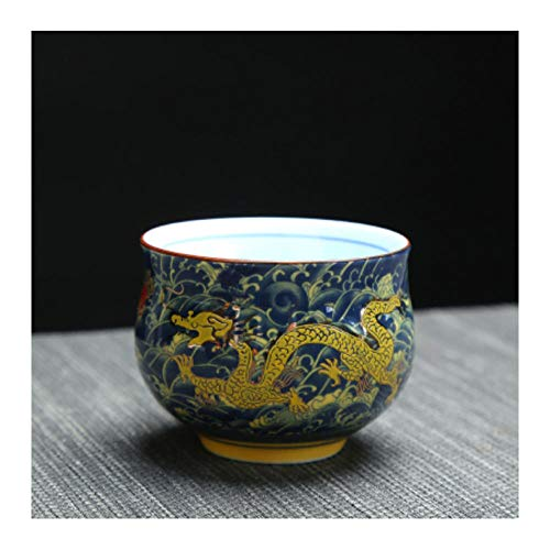 dzzdd China Kung Fu Keramik Tasse, chinesische Royal Dragon Muster Teetasse, Porzellan-Teeservice im chinesischen Stil Kaffeetassen-4
