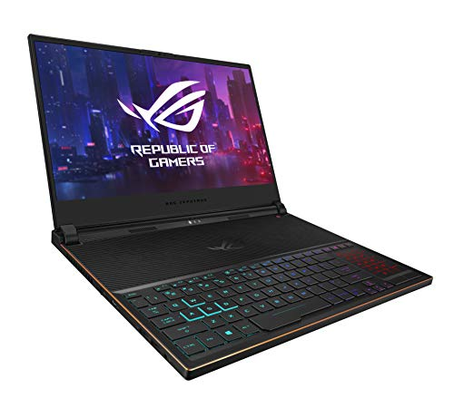 "ASUS ROG Zephyrus S Ultra Slim Gaming Laptop, 15.6"" 144Hz IPS Type FHD, GeForce RTX 2070, Intel Core i7-9750H, 16GB DDR4, 512GB PCIe Nvme SSD, Aura Sync RGB, Windows 10, GX531GW-AB76"