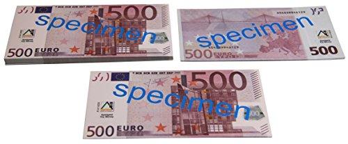 WISSNER aktiv lernen - Euro Spielgeld zum Rechnen 100 x 500 Euro Banknoten