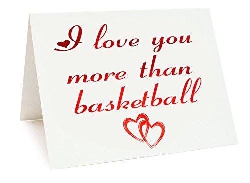 A5Vereitelt Jahrestag/Valentinstag/Love/Geburtstagskarte–Basketball Mottoparty