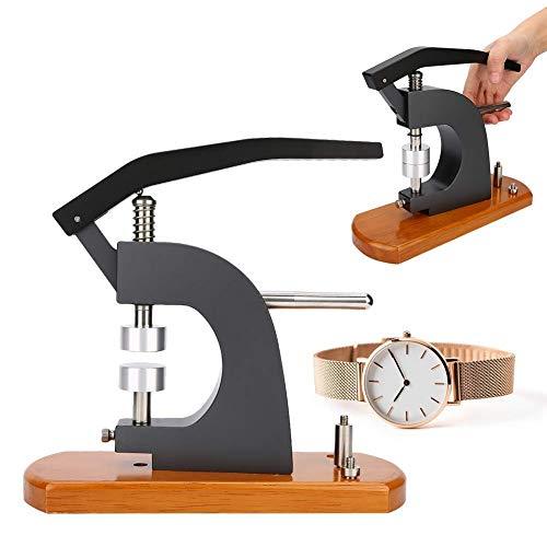 Juego de Prensa de Reloj, Profesional 5500-E, portátil, con bXHe de Madera, Caja de Reloj, Cubierta trXHera, prensatelXH, máquina de taponado, Herramienta de reparación para relojero