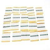 Byubox 200pcs / Set 20 Valores de la Rueda de Color Inductores Inductores Surtido Kit de Componentes Electrónicos