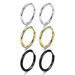 Image of Huggie Hoop Earrings for...: Bestviewsreviews