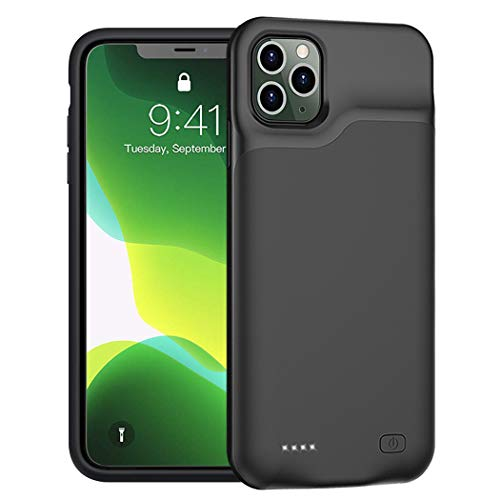 Battery Case for iPhone 11 Pro, Upgraded 5200mAh Portable Protective Charging Case Compatible with iPhone 11 Pro (5.8 inch) Rechargeable Extended Battery Charger Case (Black)