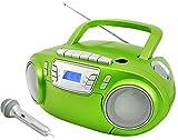 Soundmaster SCD5800GR CD MP3 Kassettenrekorder mit USB und Mikrofon