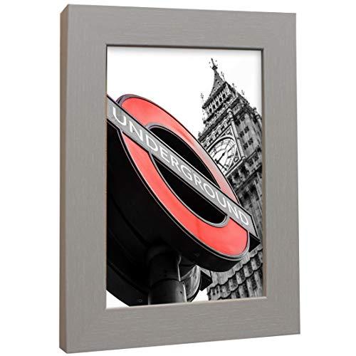 Bilderrahmen Fotorahmen 30x30 cm Grau bilderrahmen zum aufhängen MDF Picture Frames Farbe und 40 Verschiedene Größen wählbar ohne Passepartout Rahmen London