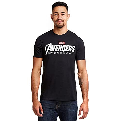 Marvel Avengers Endgame Logo T-Shirt, Noir (Black Blk), (Taille Fabricant: Large) Homme