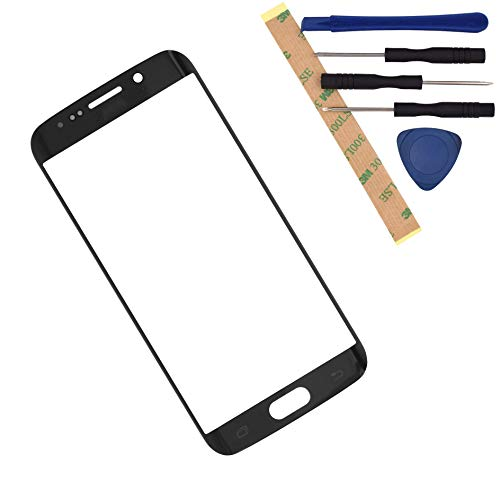 G925F Front Glass Screen Replacement for Samsung Galaxy S6 Edge G925FQ G925I G925A G925T (Blue)