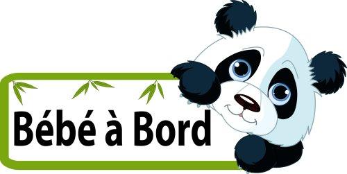 Panda Bébé à Bord Sticker Autocollant 15cm Baby Bebe Cadeau naisssance Papa Voiture vitres