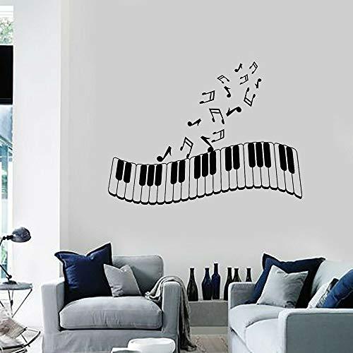 Piano toetsen muur stickers notities ramen en deuren vinyl stickers kunst woonkamer muziek studio kwekerij interieur behang