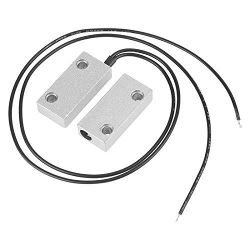Interruptor magnético - Contacto de puerta rodante Interruptor de lengüeta magnético Alarma Un par normalmente cerrado Interruptor de alarma de seguridad de puerta de ventana magnética Carcasa de meta