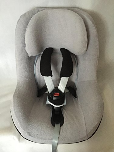 Sommerbezug Schonbezug Frottee von EKO passend für Maxi-cosi Pearl, Pearl Pro und 2wayPearl Frottee 100% Baumwolle hellgrau