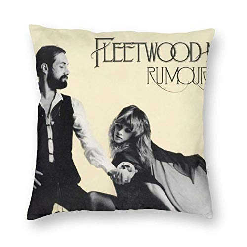 wenhe Rumours Meditation Throw Pillow Covers Case Funny Gifts Cover Couch Decor Soft Comfortable Decorative Durable and Stylish 24' X24