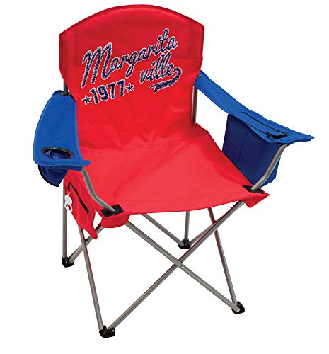 "Margaritaville Outdoor Quad Folding Chair - 1977 - Red/Blue, 21.5"""" x 36.5"""" x 37.5"""""" (630251-1)"