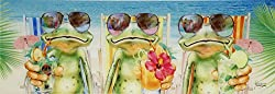 Küchenspritzschutz aus Echtglas, Motiv Frogs