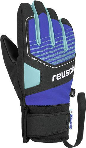 Reusch Kinder Torby R-TEX XT Junior Handschuh, Black/Imperial Blue/Bachelor Button, 6.5