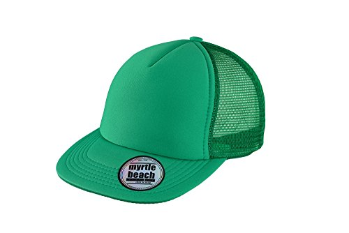 MYRTLE BEACH 5 Panel Flat Peak Cap in green Taille: Taille unique