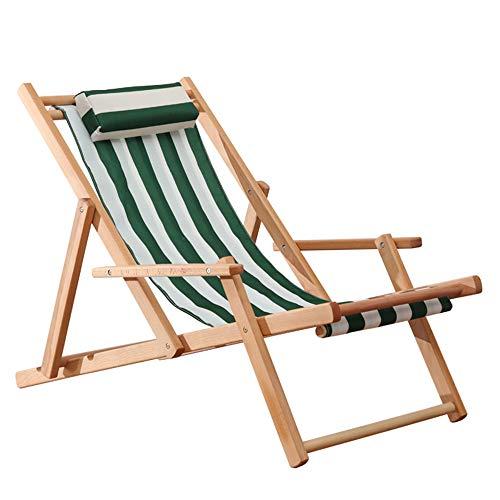 Schommelbank Klapstoel Tuinstoel van massief hout, Lounge voor kinderen, geschikt voor iedereen Green_white_stripe_+_hand