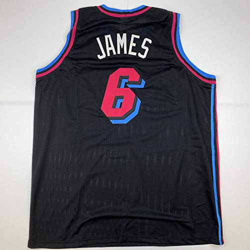Unsigned LeBron James Miami Black Vice City Custom Stitched Basketball Jersey Size Men's XL New No Brands/Logos
