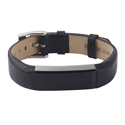 YPYS Ersatz Lederarmbänder Armband kompatibel für Fitbit Alta und Alta HR, Verstellbare Ersatzarmband Sport passend für Fitbit Alta und Alta HR (Kein Tracker) Schwarz