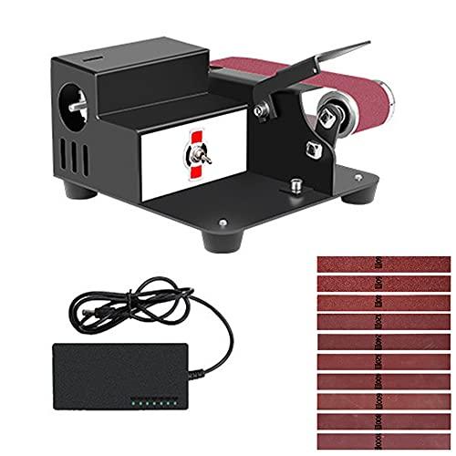 Lijadora de banda lijadora de mesa multifunción, amoladora combinada 775, 250 W, 0-10000 rpm compacta