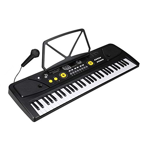 MA STRAP XMD-730D 61 keys Electronic Piano Keyboard Smart Music electronic organ with Mic& Stand,Built-in Speaker,16 Tones for Kids Adult Music Keyboard Enthusiast